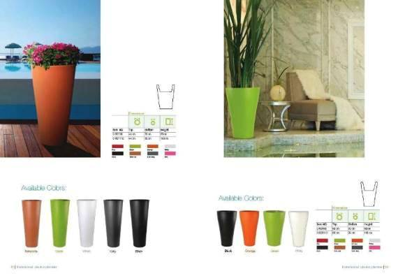 Illuminated planters for professionals and sophisticated for Home interior catalog 2013